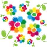 Jaskrawy barwiony kwiecisty tło Zdjęcie Royalty Free