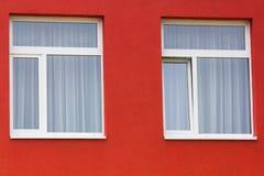 Jaskrawy barwiony nowożytny jawnego budynku dzieciniec fotografia royalty free