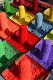 jaskrawy barwiony proszek Zdjęcia Royalty Free
