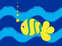 jaskrawy barwiony rybi osamotniony Zdjęcia Stock