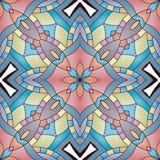 Jaskrawy bezszwowy abstrakta wzór, mandala Obrazy Royalty Free