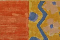 Jaskrawy bezszwowy kwiecisty wzór z geometrycznymi elementami Zdjęcia Royalty Free