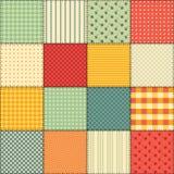 Jaskrawy bezszwowy patchworku tło z różnymi wzorami Obraz Stock