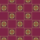 Jaskrawy bezszwowy w kratkę wzór z lilym tłem Fotografia Royalty Free