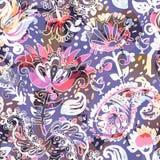 Jaskrawy bezszwowy wzór w Paisley stylu Obraz Royalty Free