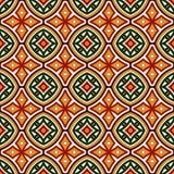 Jaskrawy bezszwowy wzór z geometrycznym ornamentem w Bożenarodzeniowych tradycyjnych kolorach Etniczni i plemienni motywy royalty ilustracja