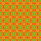 Jaskrawy bezszwowy zaszywanie wzór na pomarańczowym tle Zdjęcia Stock