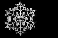 Jaskrawy biały płatek śniegu fotografia royalty free