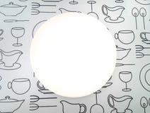 Jaskrawy bielu talerz Obrazy Stock