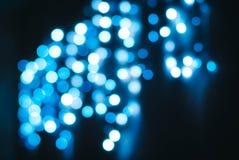 Jaskrawy bokeh błękitni światła obrazy royalty free