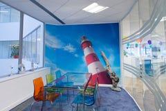 Jaskrawy & Colourful pokój konferencyjny Fotografia Stock