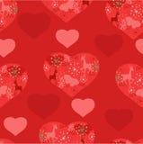 Jaskrawy czerwień wzór Zdjęcie Royalty Free