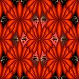Jaskrawy czerwony abstrakta 3d Paisley wektorowy bezszwowy wzór Zdjęcie Royalty Free