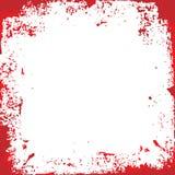 Jaskrawy czerwony grunge tło Zdjęcia Stock