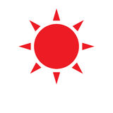 Jaskrawy czerwony słońce royalty ilustracja