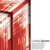 Jaskrawy czerwony strzałkowaty abstrakcjonistyczny biznes Ilustracja Wektor