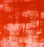 Jaskrawy czerwony tło szczotkująca tekstura metalu ściana z białym lampasa kwadrata kształtem Obrazy Stock