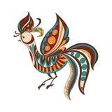 Jaskrawy dekoracyjny ptak również zwrócić corel ilustracji wektora Fotografia Stock