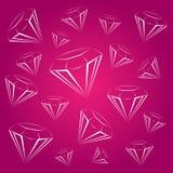 Jaskrawy diamentowy logo Fotografia Royalty Free