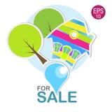 Jaskrawy dom dla sprzedaży Zdjęcia Royalty Free
