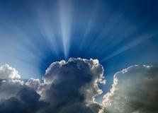 Jaskrawy dramatyczny światło słoneczne fotografia royalty free