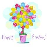 Jaskrawy Easter drzewo Fotografia Royalty Free