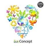 Jaskrawy Eco pojęcie Zdjęcia Stock