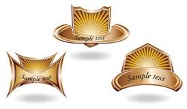 jaskrawy etykietka trzy ilustracji