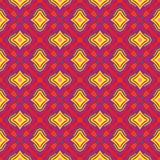 Jaskrawy Geometryczny wzór w powtórce Tkanina druk Bezszwowy tło, mozaika ornament, etniczny styl ilustracja wektor