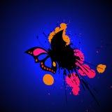 Jaskrawy grunge motyl Obraz Royalty Free