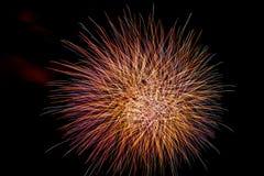 Jaskrawy i kolorowy fajerwerku świętowanie zdjęcie royalty free