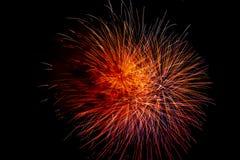 Jaskrawy i kolorowy fajerwerku świętowanie obraz royalty free