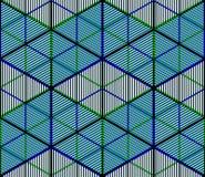 Jaskrawy illusory abstrakcjonistyczny geometryczny bezszwowy wzór z 3d geom Zdjęcia Stock