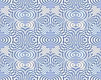 Jaskrawy illusory abstrakcjonistyczny geometryczny bezszwowy wzór z 3d geom Fotografia Stock