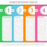 Jaskrawy infographic szablon stosowny dla biznesu Obraz Royalty Free