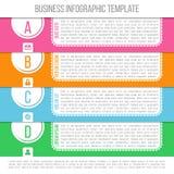 Jaskrawy infographic szablon stosowny dla biznesu Fotografia Royalty Free