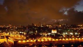 Jaskrawy Jerozolimski stary miasto zaświeca nad Al Aksa zdjęcie wideo