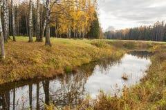 Jaskrawy jesieni wody krajobraz Zdjęcie Royalty Free
