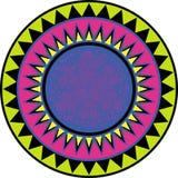 jaskrawy kółkowy ornament Zdjęcia Royalty Free