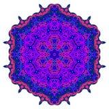 Jaskrawy kółkowy ornament purpur kwiatu mandala Obraz Stock