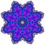 Jaskrawy kółkowy ornament purpur kwiatu mandala Zdjęcie Royalty Free