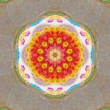 Jaskrawy kalejdoskopu arabesk w neonowych żywych kolorach zdjęcia royalty free