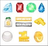 jaskrawy kasynowe ikony Zdjęcie Royalty Free