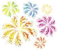 Jaskrawy kolorowi fajerwerki Fotografia Stock
