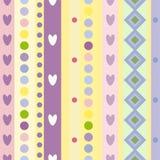 Jaskrawy kolorowy bezszwowy wzór Zdjęcia Royalty Free