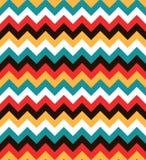 Jaskrawy kolorowy bezszwowy zygzakowaty wzór Abstrakcjonistyczny szewronu tło Obrazy Stock