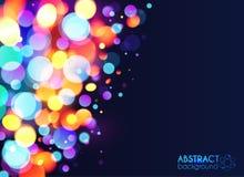Jaskrawy kolorowy bokeh lekkiego skutka abstrakt Fotografia Royalty Free