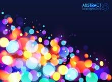 Jaskrawy kolorowy bokeh lekkiego skutka abstrakt Zdjęcia Royalty Free