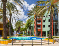 Jaskrawy kolorowy colourful kwadrat w Willemstad w Curacao Fotografia Royalty Free