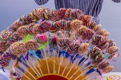 Jaskrawy kolorowy fan czekolady obrazy stock